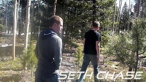 Seth Chase & Evan Parks Meet up in the Woods for a Blowjob